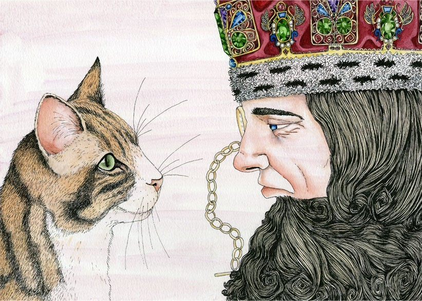 Cat may look at a king